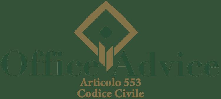 Articolo 553 - Codice Civile