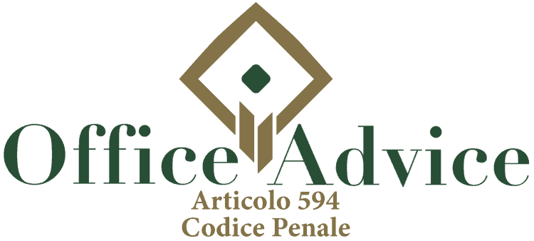 Articolo 594 - Codice Penale