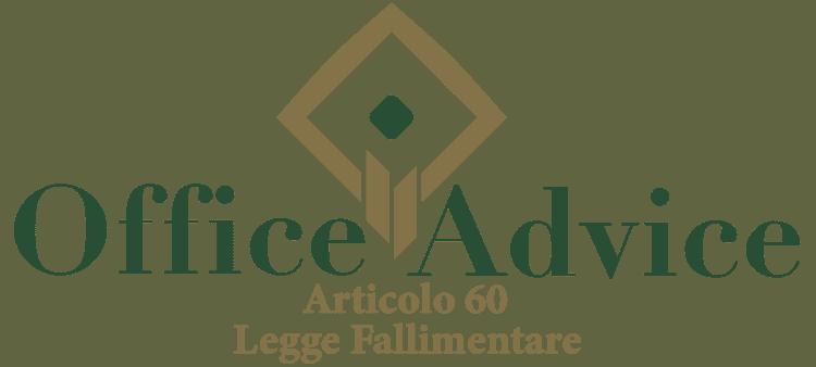 Articolo 60 - Legge fallimentare