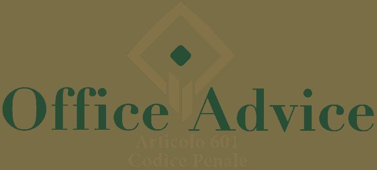 Articolo 601 - Codice Penale