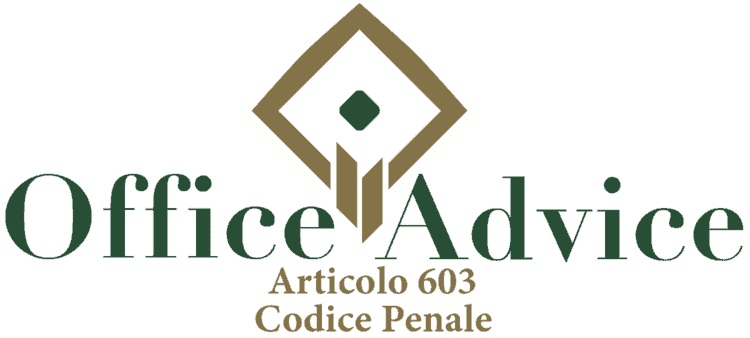 Articolo 603 - Codice Penale