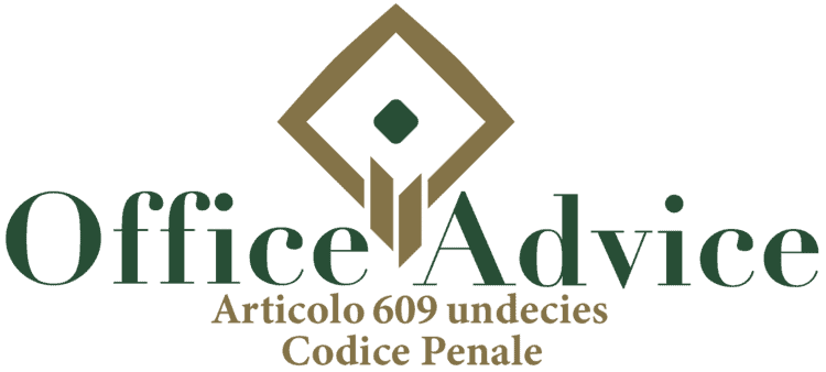Articolo 609 undecies - Codice Penale