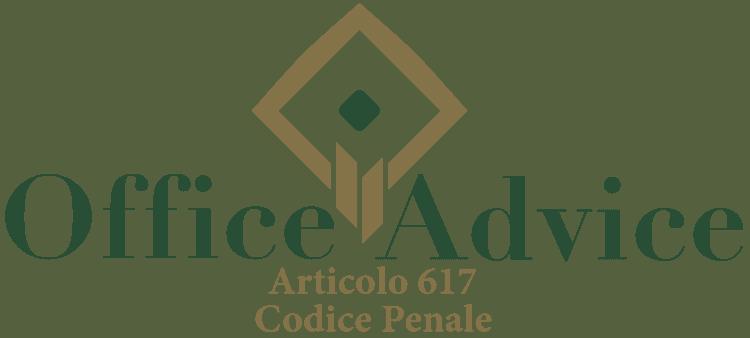 Articolo 617 - Codice Penale