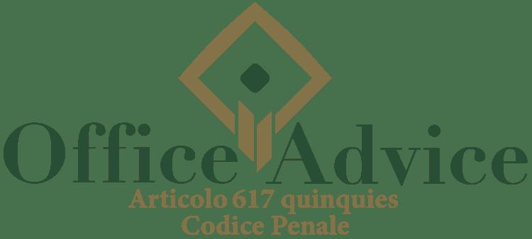 Articolo 617 quinquies - Codice Penale