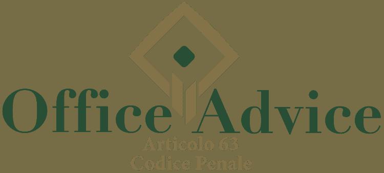 Articolo 63 - Codice Penale