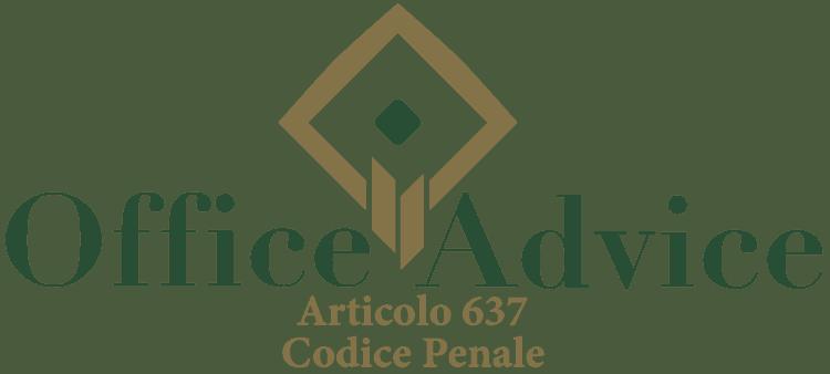 Articolo 637 - Codice Penale