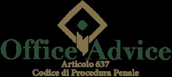 Articolo 637 - Codice di Procedura Penale