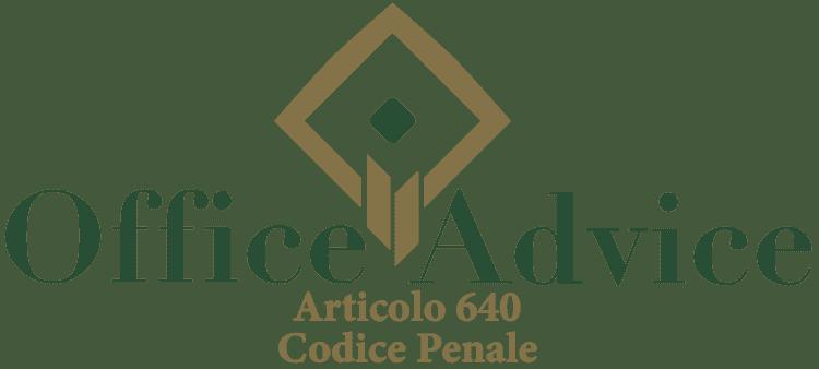 Articolo 640 - Codice Penale