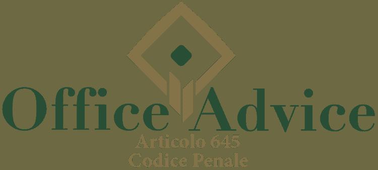 Articolo 645 - Codice Penale