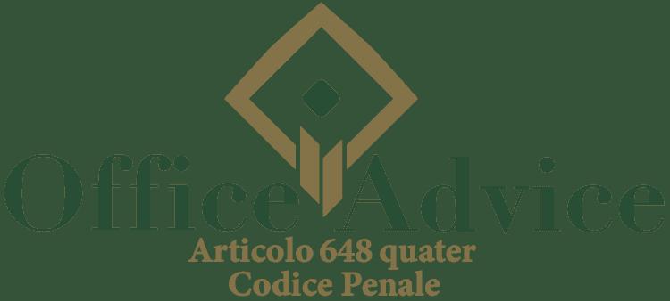 Articolo 648 quater - Codice Penale