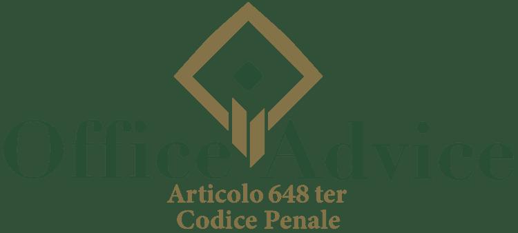 Articolo 648 ter - Codice Penale