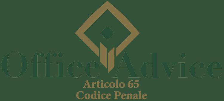 Articolo 65 - Codice Penale