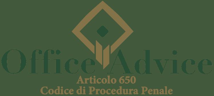Articolo 650 - Codice di Procedura Penale