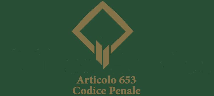 Articolo 653 - Codice Penale