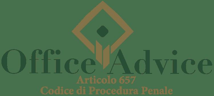 Articolo 657 - Codice di Procedura Penale