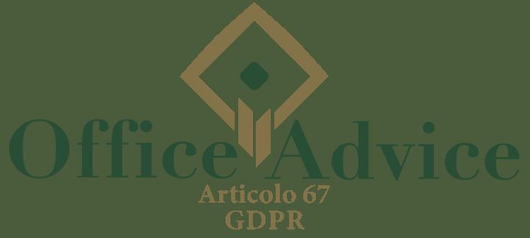 Articolo 67 - GDPR