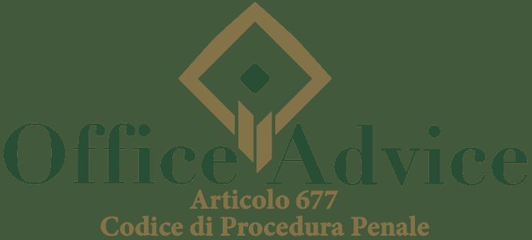 Articolo 677 - Codice di Procedura Penale