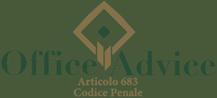 Articolo 683 - Codice Penale