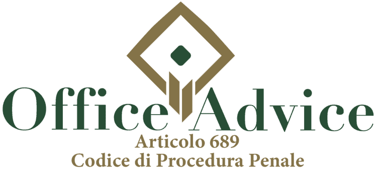 Articolo 689 - Codice di Procedura Penale