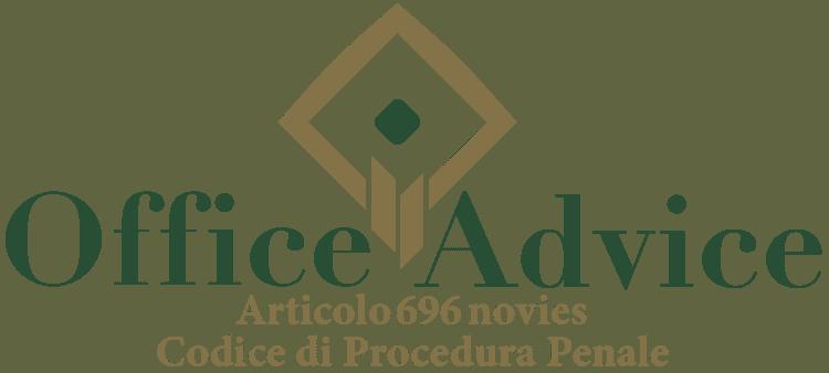 Articolo 696 novies - Codice di Procedura Penale
