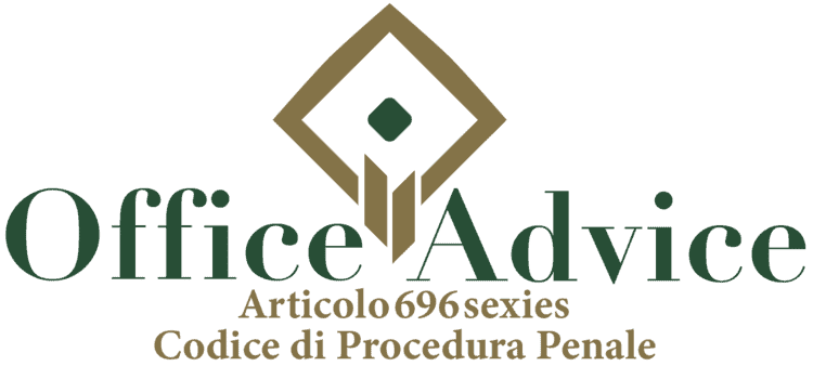 Articolo 696 sexies - Codice di Procedura Penale