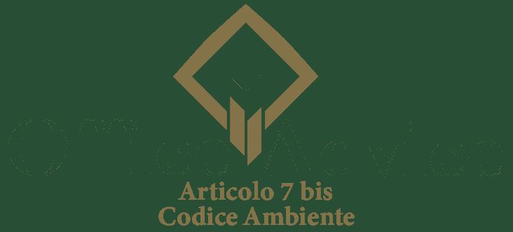 Art. 7 bis - Codice ambiente