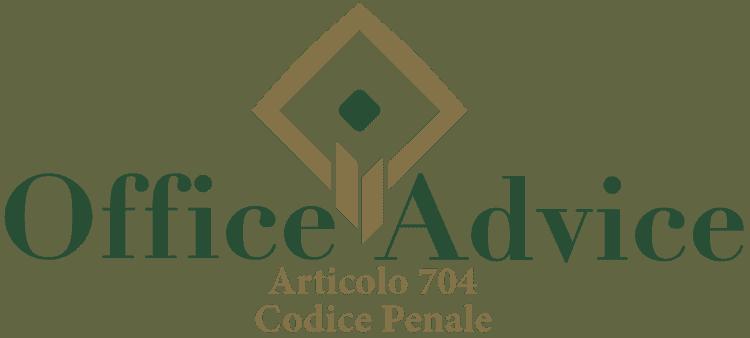 Articolo 704 - Codice Penale
