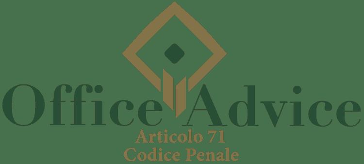 Articolo 71 - Codice Penale