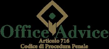 Articolo 716 - Codice di Procedura Penale