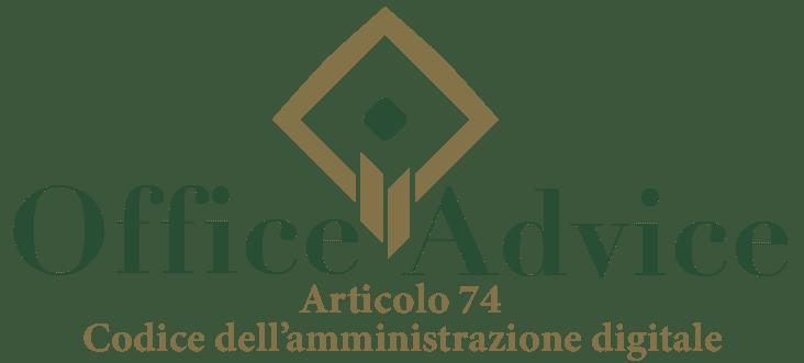 Art. 74 - Codice dell'amministrazione digitale