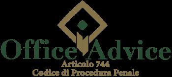 Articolo 744 - Codice di Procedura Penale