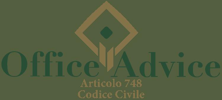Articolo 748 - Codice Civile