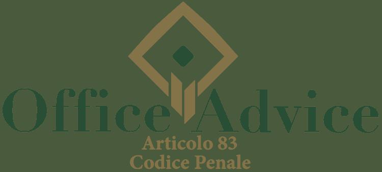 Articolo 83 - Codice Penale