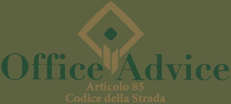 Articolo 85 - Codice della Strada