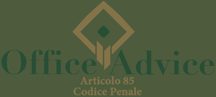 Articolo 85 - Codice Penale