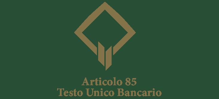 Art. 85 - Testo unico bancario