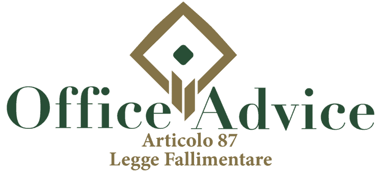 Articolo 87 - Legge fallimentare