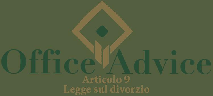Articolo 9 - Legge sul divorzio