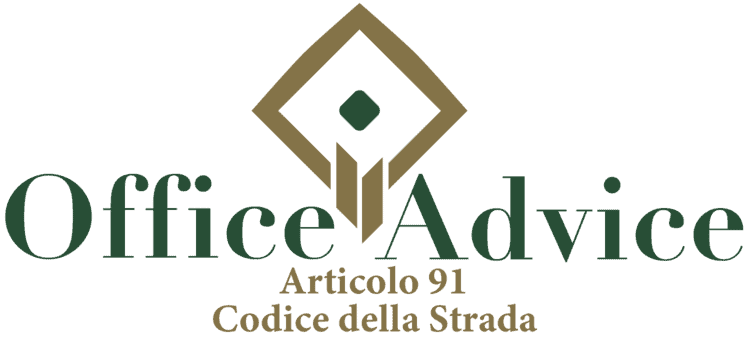 Articolo 91 - Codice della Strada