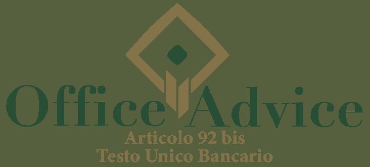 Art. 92 bis - Testo unico bancario