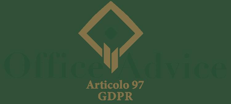 Articolo 97 - GDPR
