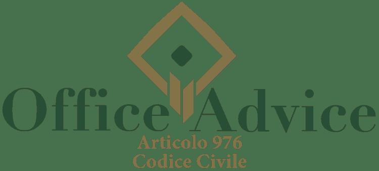 Articolo 976 - Codice Civile
