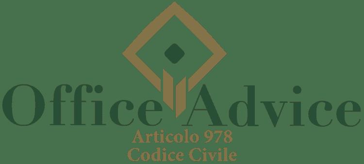 Articolo 978 - Codice Civile