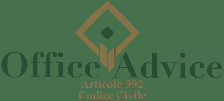 Articolo 992 - Codice Civile