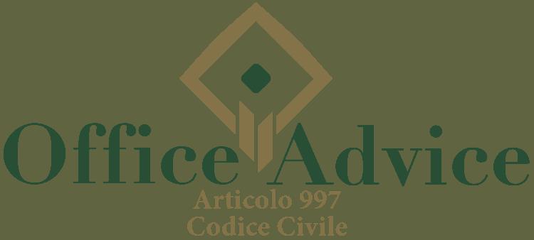 Articolo 997 - Codice Civile