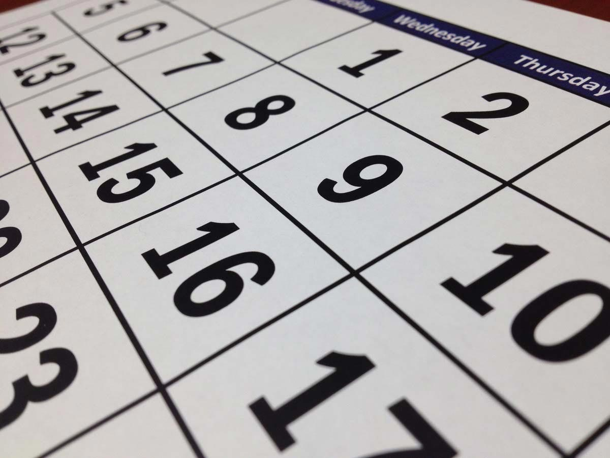 Le scadenze del mese: settembre 2021